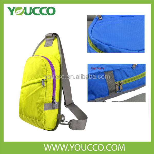 Quilted yellow unique light running backpacks