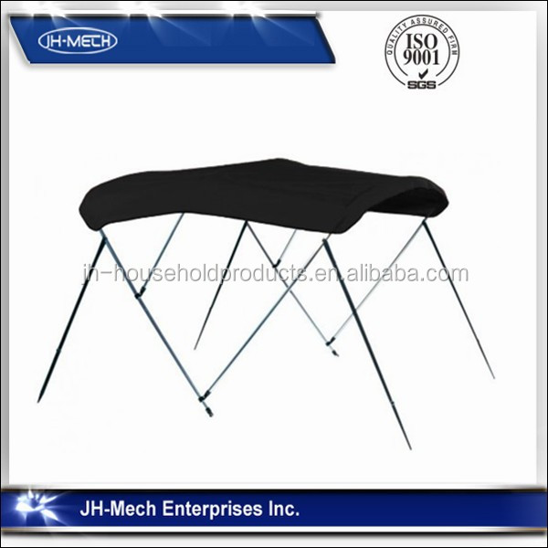 Black BIMINI TOP BOOT COVER MARINE BOAT shade canopy