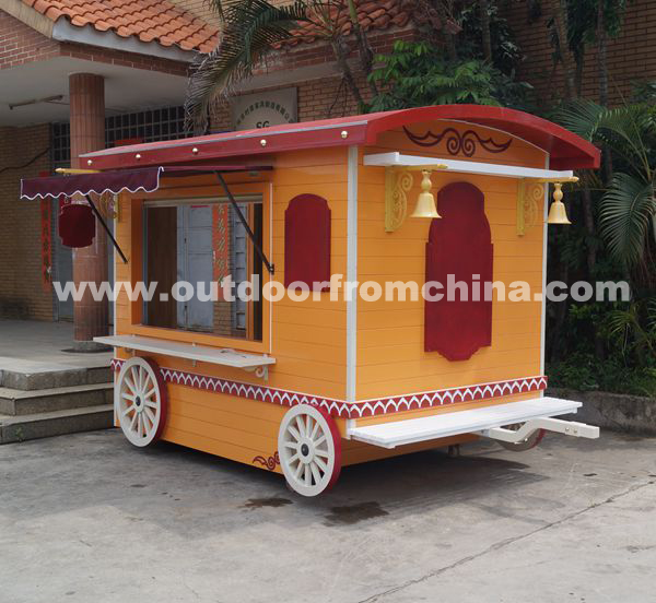 China wooden mobile outdoor kiosk