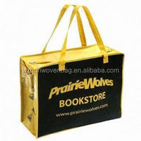 2016 OEM Offer Printed Fabric Shopping Pp Non Woven Bag With Zipper