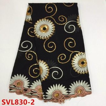 New black obama swiss voile lace fabric SVL830
