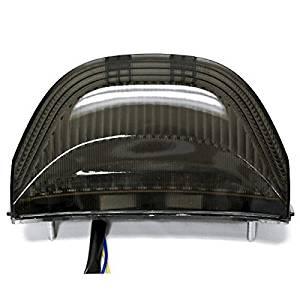 Atpmtas® 2003-2006 Honda CBR 600rr Cbr600 2004-2007 Honda CBR 1000rr Cbr1000 Rr LED Taillights Brake Tail Lights with Integrated Turn Signals Indicators Smoke Motorcycle