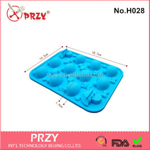 H028 PRZY mixed designs anime chocolate mold / silicone chocolate molds