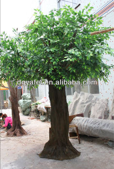 best decorative artificial green banyan ficus tree fake green wooden tree on sale - Ficus Trees