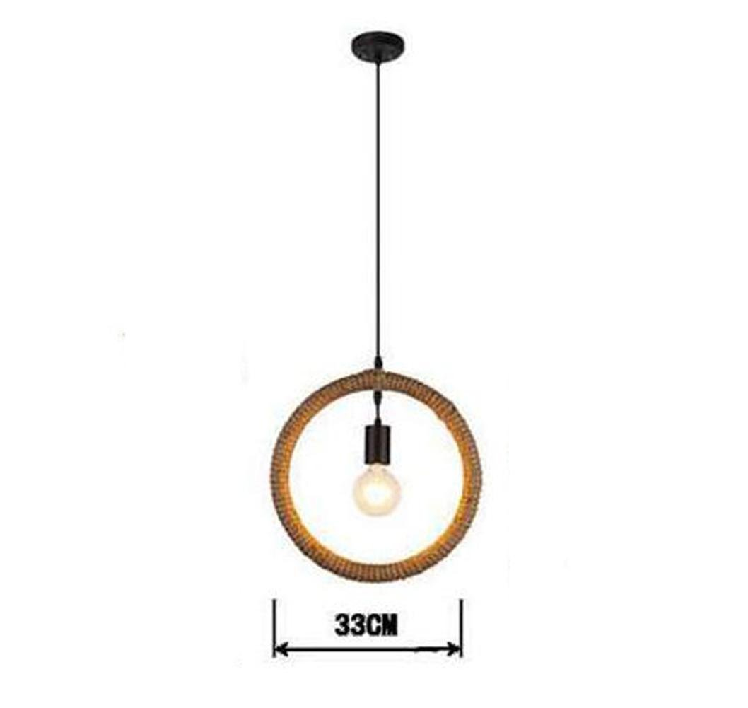 GAO LGDT DIY Pure hand Braided hemp rope Geometric modeling pendant lights , A