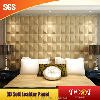 Eco-Friendly Feature and Home theater use Faux leather wall panel ...