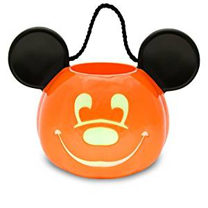 c22807469b8 Get Quotations · Disney Park Mickey Mouse Pumpkin Light Up Halloween Trick  or Treat Candy Bucket Bag Pail Jack