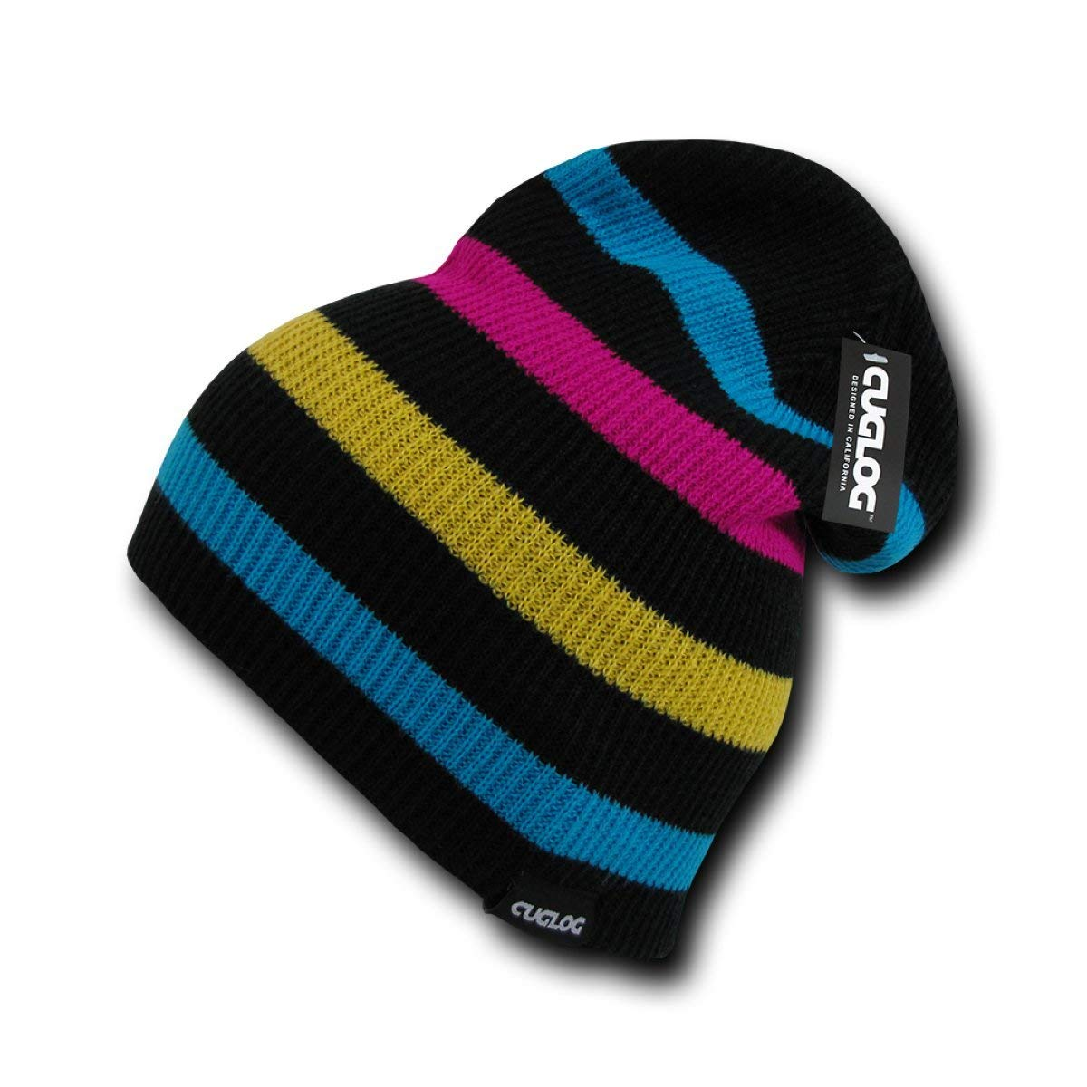 95ce46a1716 Get Quotations · CUGLOG Monte Fitz Roy Striped Pattern Slouch Beanie