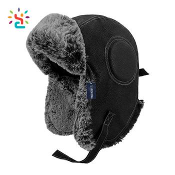 Custom military hat with fur men Russian military ushanka hats sheepskin  lining Russian style fur cap e3670f5cb8a