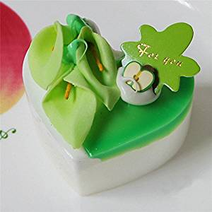 Green2 Artificial Simulation Triangular Tllips Round Cake Fridge Magnet Home Decor