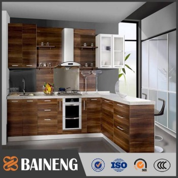 Various Wood Grain Laminate Kitchen Cabinet For Modern Simple Modular Designs