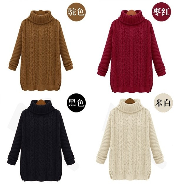 Hot Sale 2015 Womens Sweater Pullover Knitted Turtleneck ...