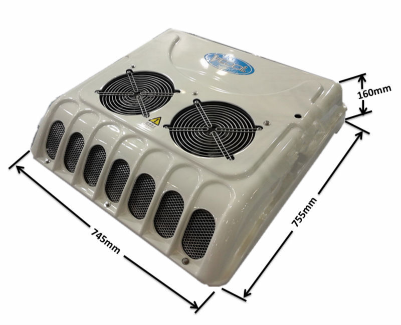 Rooftop Mounted 12 Volt Trailer Cab Air Conditioning Unit