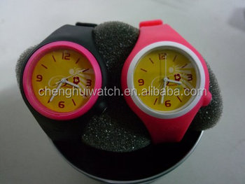 promotional cheap silicone analog watch clock