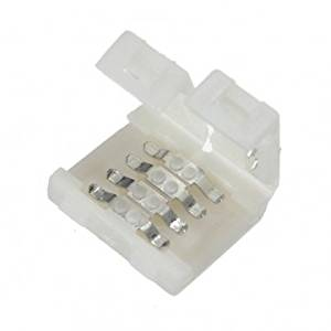 10mm 4-conductor Quick Splitter LED Strip Connector (Strip to Strip) for RGB Color-changing LED Strip Lights
