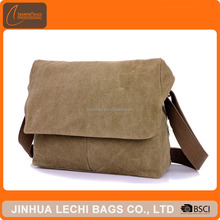 Fashion man college student small single side bags for teens boys cotton canvas messenger bagshoulder bag