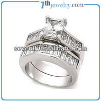 NEW 2012 Lastest Design Fashion Jewelry Vogue Two Finger Couple Wedding/Engagement Rings Square Diamond Ring Wholesale