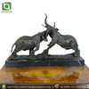 Two Fighting Bronze Elephant Sculpture