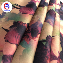 Best selling paper printing satin material flower print fabric for blouses