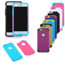 Pour iphone 6 souple TPU Skin + disque PC couverture double couche 2in1 cas Shell