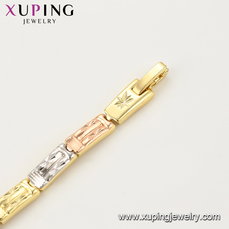75888 xuping fashion beautiful gold plated copper bracelet design for women