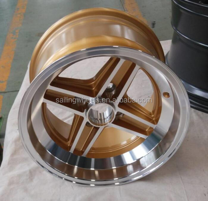 4x98mm 13x7.0 inch 4 spokes deep concave gold car alloy <strong>wheels</strong>