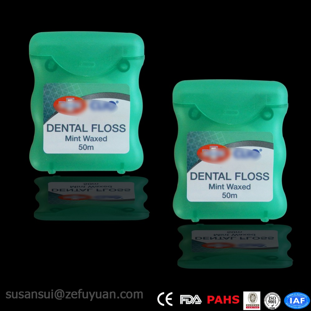 50 m Nylon Mint Waxed Flosdraad