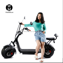 Wellsmove Harley el scooter 1000w citycoco electric scooter with big wheels