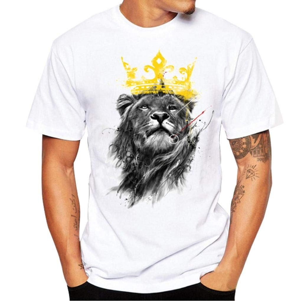 FUNIC 2018 Hot Sale ! Mens Printing Tees Shirt Short Sleeve T Shirt Blouse Top