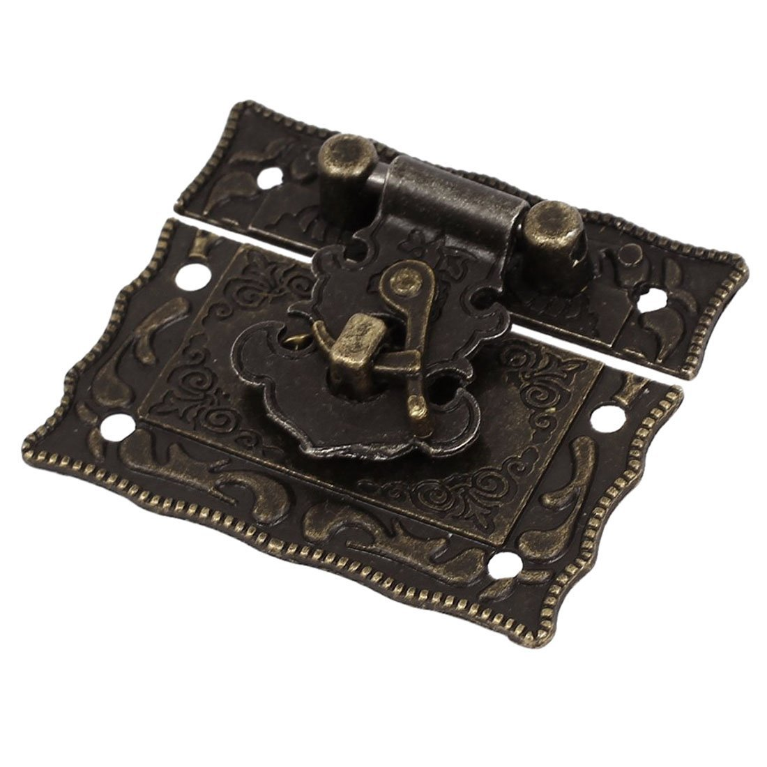 Antique Style Latch - TOOGOO(R) Wood Case Chest Box Rectangle Clasp Closure Hasp Latches Bronze Tone