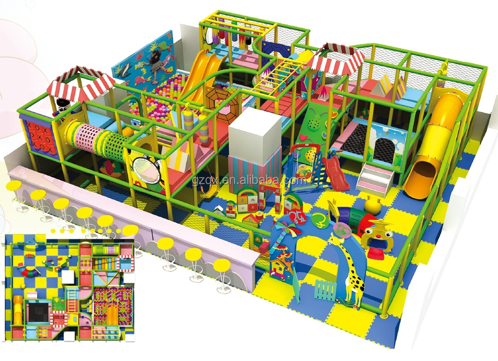 Fantastic Big Size Indoor Play Areas For Kids Qx 108a