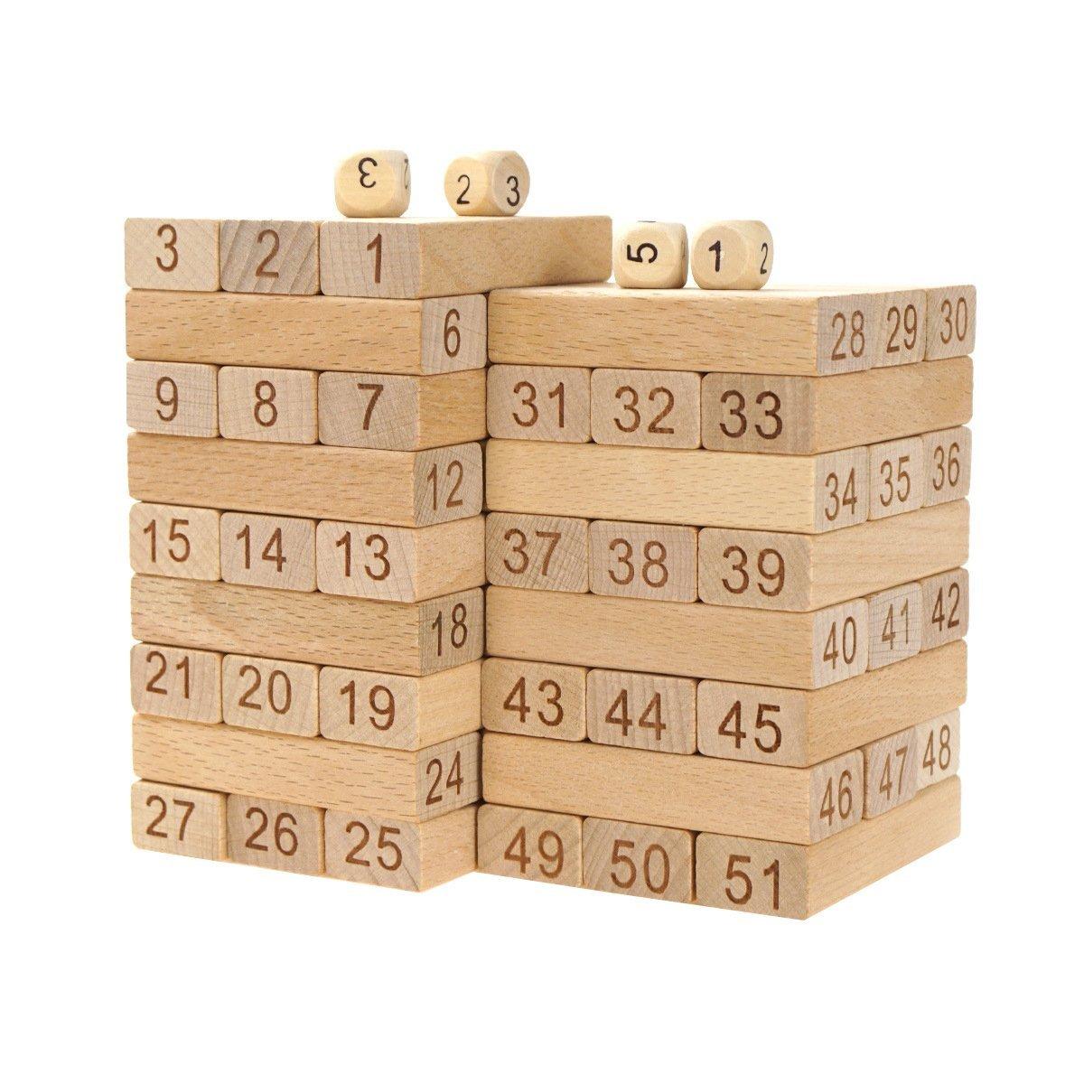 Greencherry Intelligence Development Wood Block Toy Stacking Blocks.