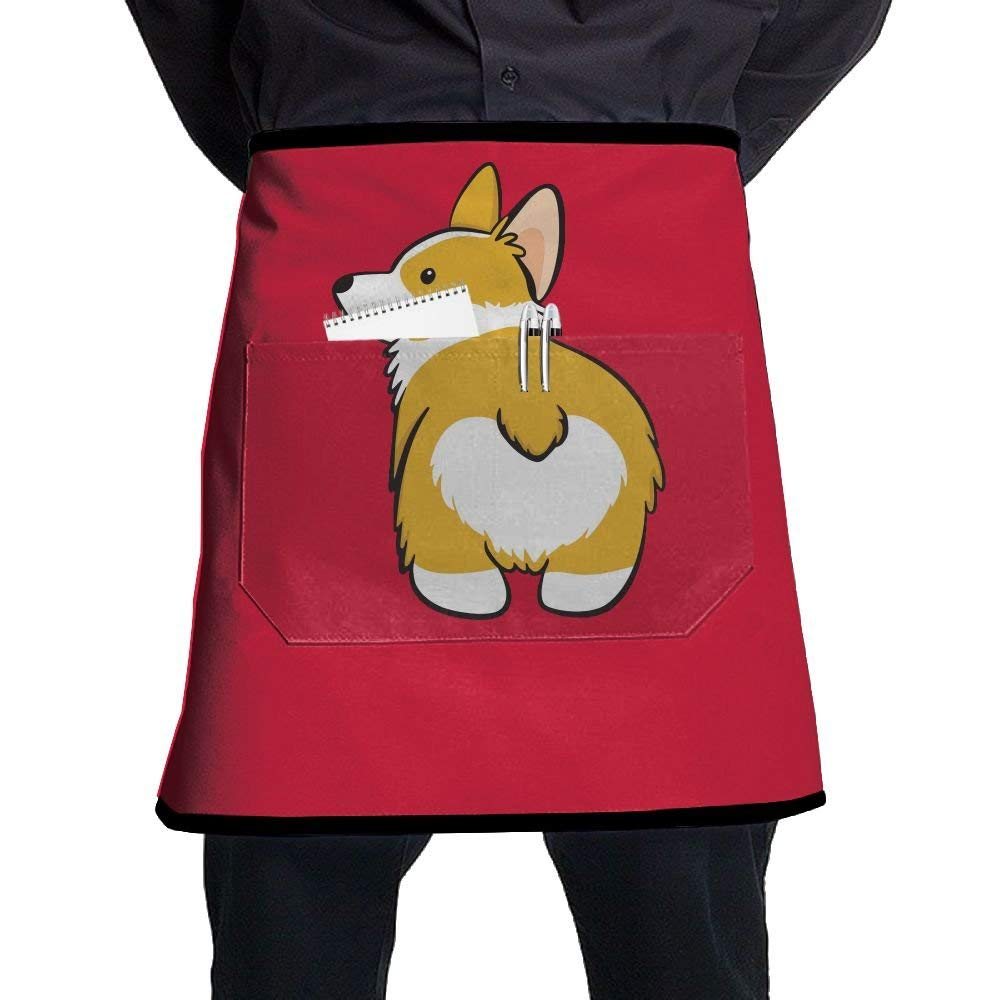 Chef Apron, Womens Bib Aprons With Pocket, Chef Aprons For Men, Kitchen Accessories, Funny Cute Corgi Butt
