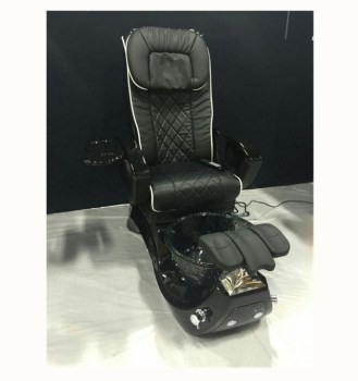 Reliable China manufacturer high quality nail salon equipment black no pipeless shiatsu massagespa pedicure spa chair