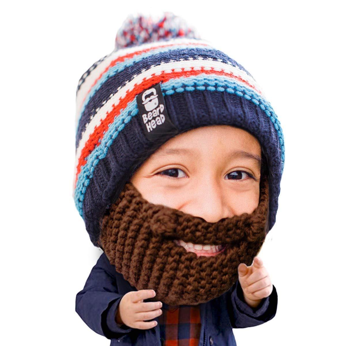 73f088706bc5a Get Quotations · Beard Head Kid Gromm Beard Beanie - Knit Hat w Fake Beard  for Kids and