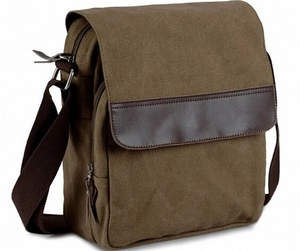 Custom long shoulder strap messager bag men canvas sling bag