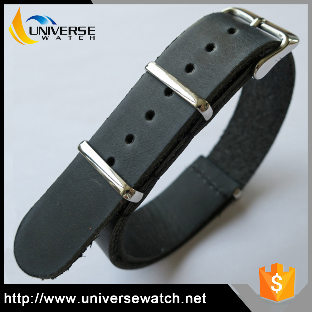 Sport Wrist Watch Band 18mm 20mm 22mm 24mm Interchangeable Nato Leather Watch Straps