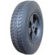 10 inch 10x2.5 semi-penumatic wheel solid rubber tire with plastic or steel rim for hand truck wagon cart