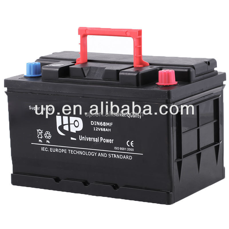 Electric car battery maintenance free 12v car battery motoring cars DIN 68MF