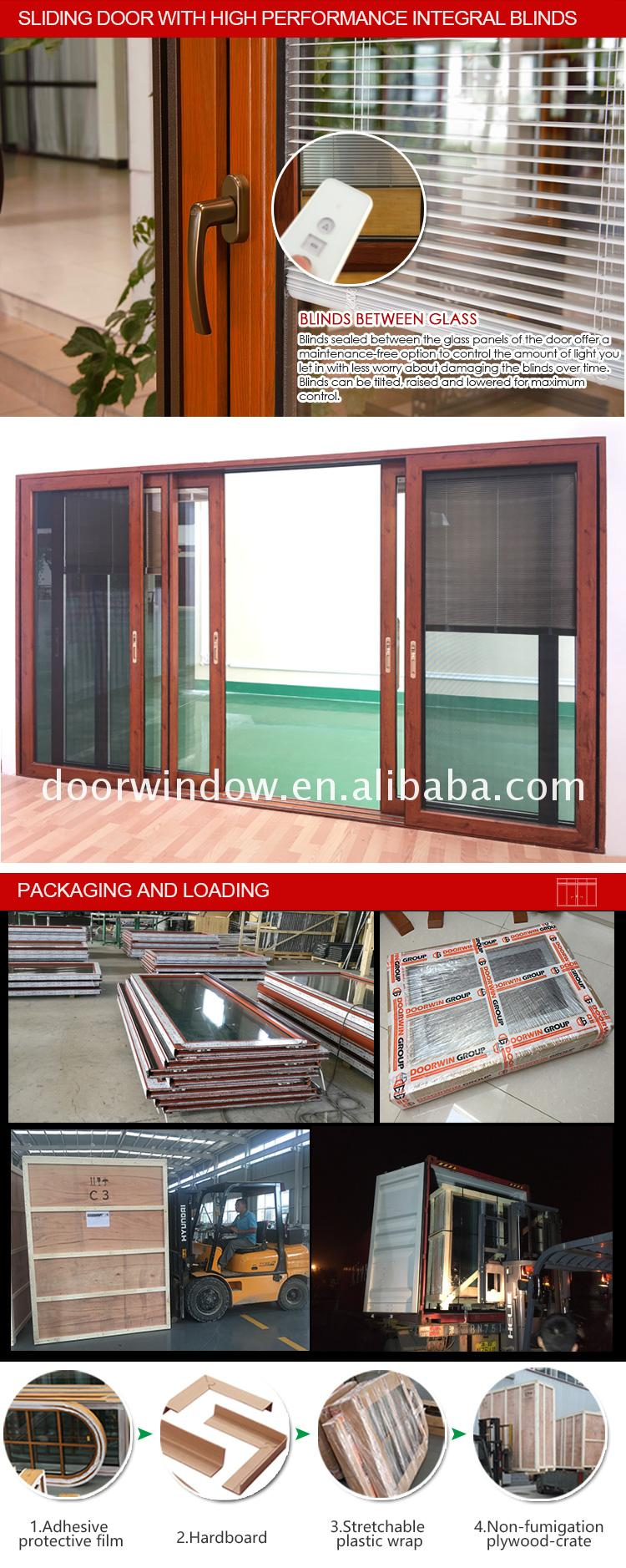 Triple glass aluminum lift sliding door Thermal break double safety glazing doors with AS2047 and window &amp