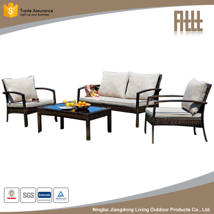 new outdoor wicker patio furniture garden sofa AWRF9634 from Ningbo manufacter,Outdoor wicker furniture