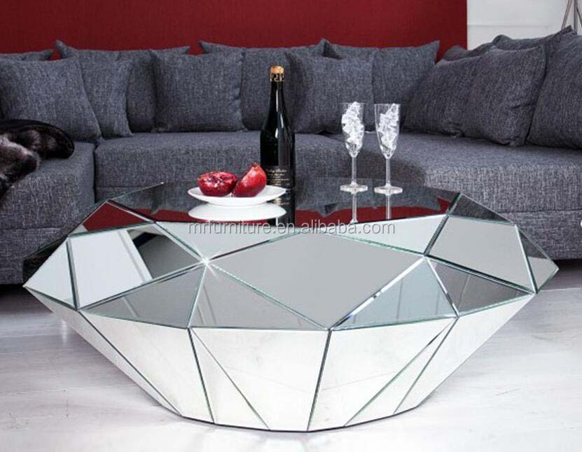 Modern Mirrored Diamond Shape Coffee Table For Living Room Furniture - Buy  Diamond Style Mirrored Coffee Table,Mirrored Living Room Coffee ...
