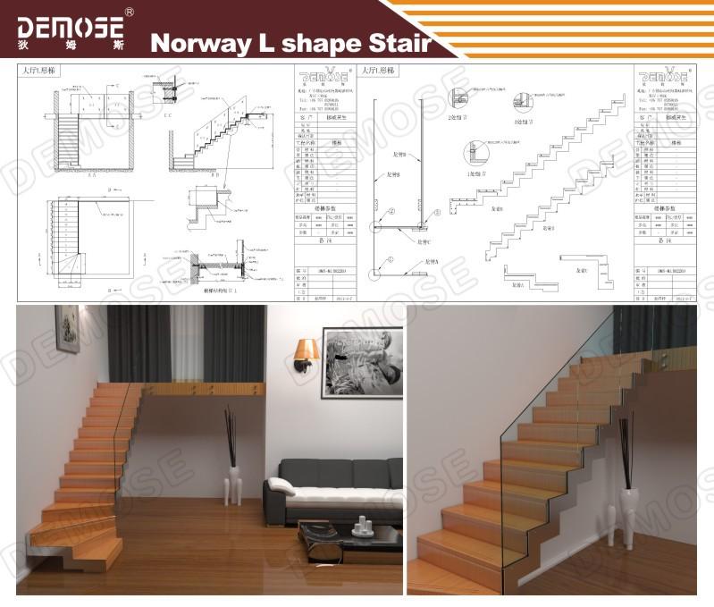 Modern Interior Stairs Designs Indoor Wooden Wire Staircase Railing
