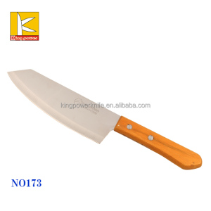 stainless steel Kiwi brand chef chopping knife with natural wood handle