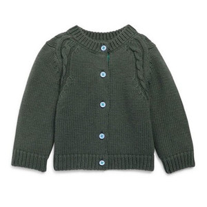 ZQ007 100% Cotton warm knitted cardigan 100 hand made baby sweater