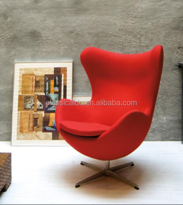 H-2008 Fiberglass egg chair, egg chair replica, egg shaped chair