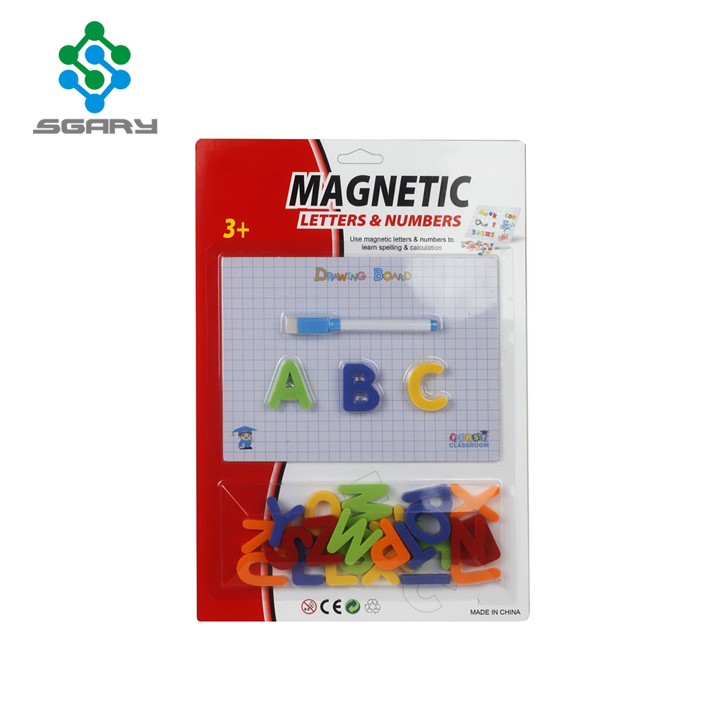 Shantou Factory Kids Learning Toys Magnetic Alphabet With Whiteboard Marker