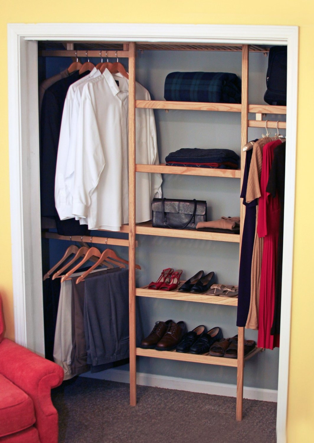 Get Quotations · All Hardwood Closet Shelving Kit (Natural)