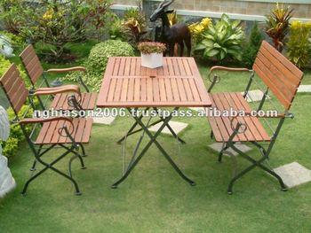 king wooden garden furniture set with iron frame - Garden Furniture King