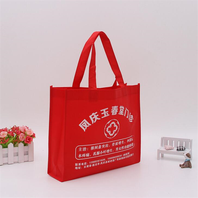 wholesale customized nylon rope non woven bag